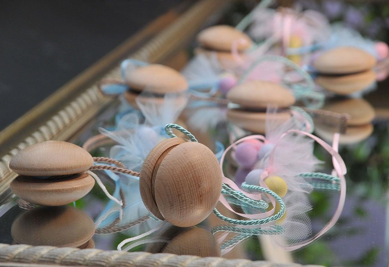 Ξύλινα yo-yo μπομπονιέρα βάπτισης παιδική