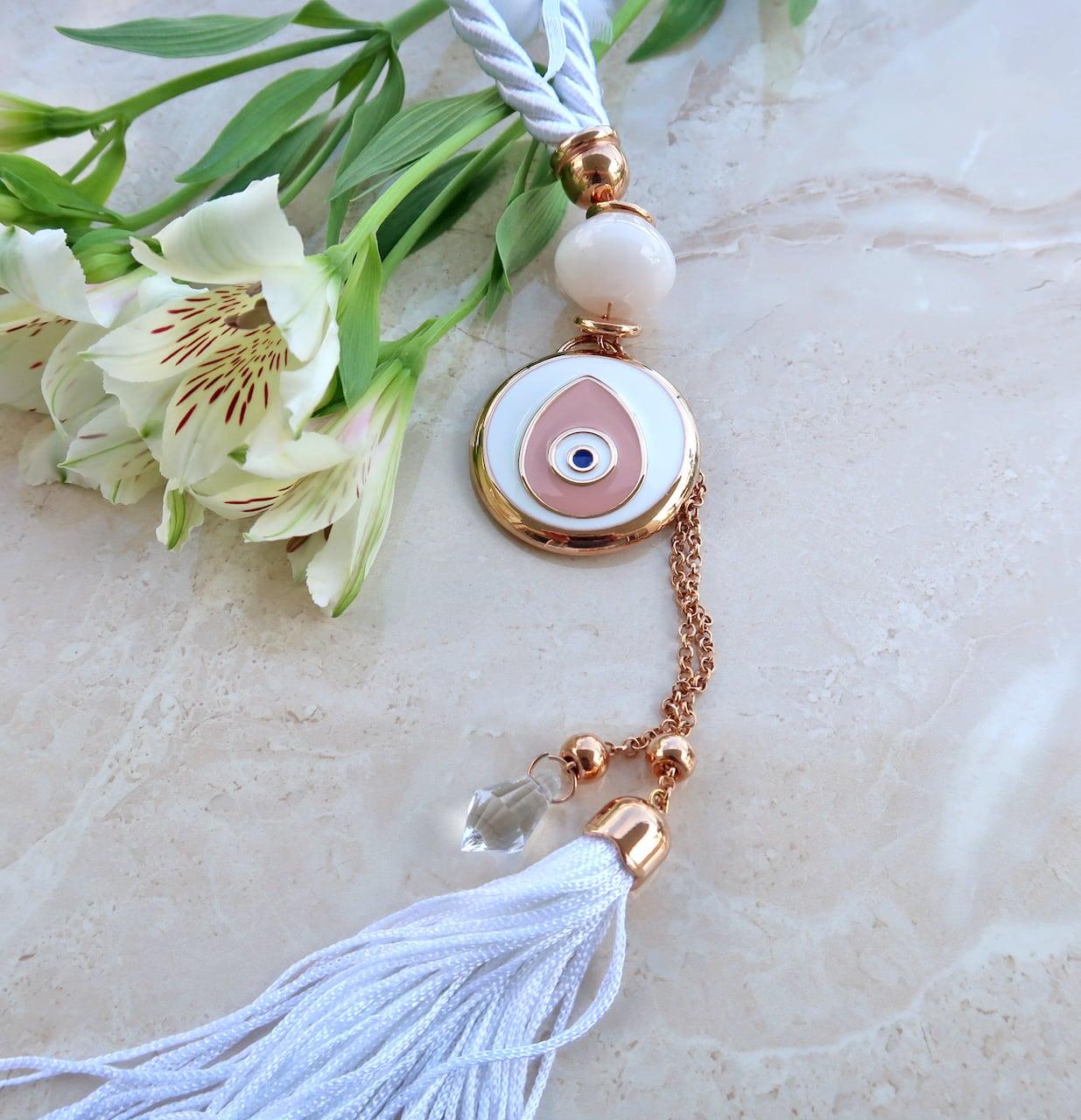 Μπομπονιέρα Γάμου αντικείμενο σε ροζ-χρυσό μέταλλο σε σχήμα μάτι
